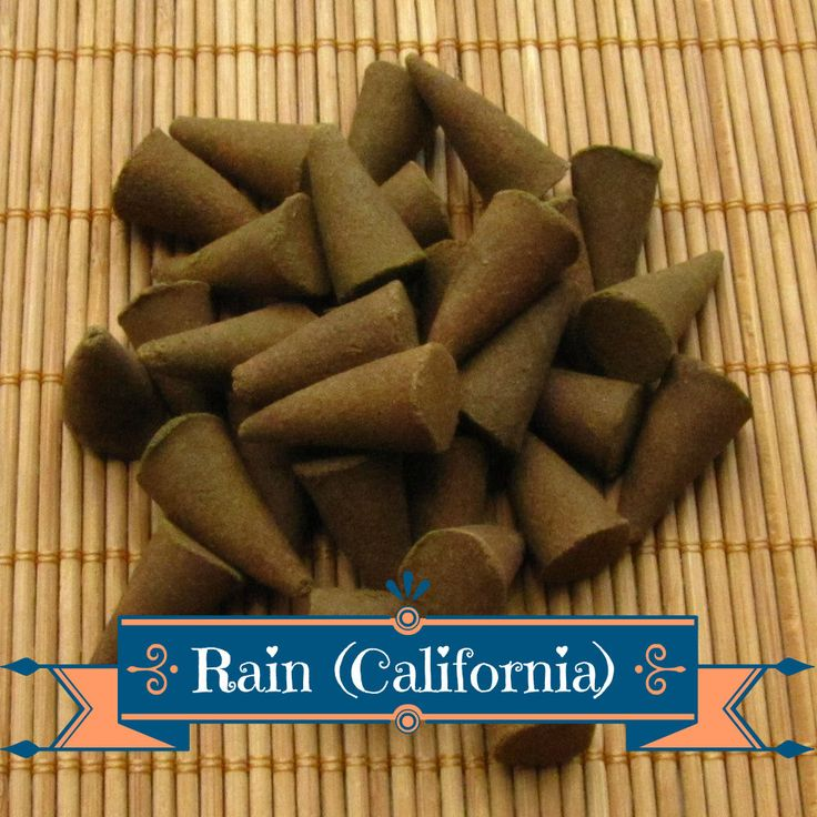 Rain (California) Incense Cones - Hand Dipped Incense Cones by CherryPitCrafts on Etsy