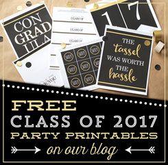 free class of 2017 graduation printables
