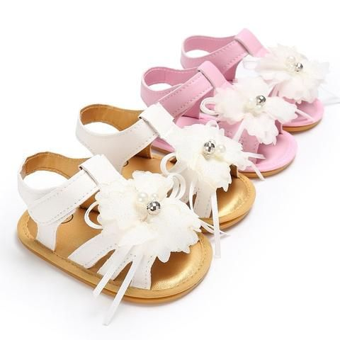 179d782b9a9b1 Raise Young Summer Flower PU Leather Baby Girl Sandals Rubber Soles  Non-slip Toddler Girl Princess Shoes Newborn Infant Footwear
