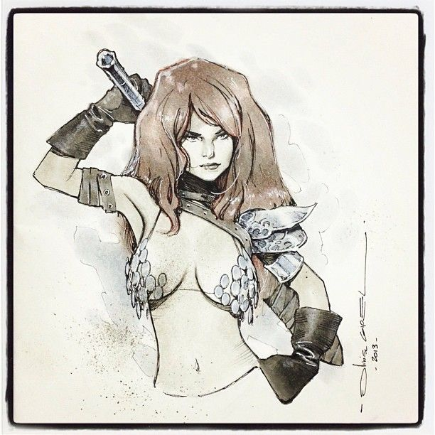 Red Sonja by Olivier Coipel