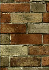 Faux Rust Tuscan Brick Wallpaper - Wallpaper & Border | Wallpaper-inc.com