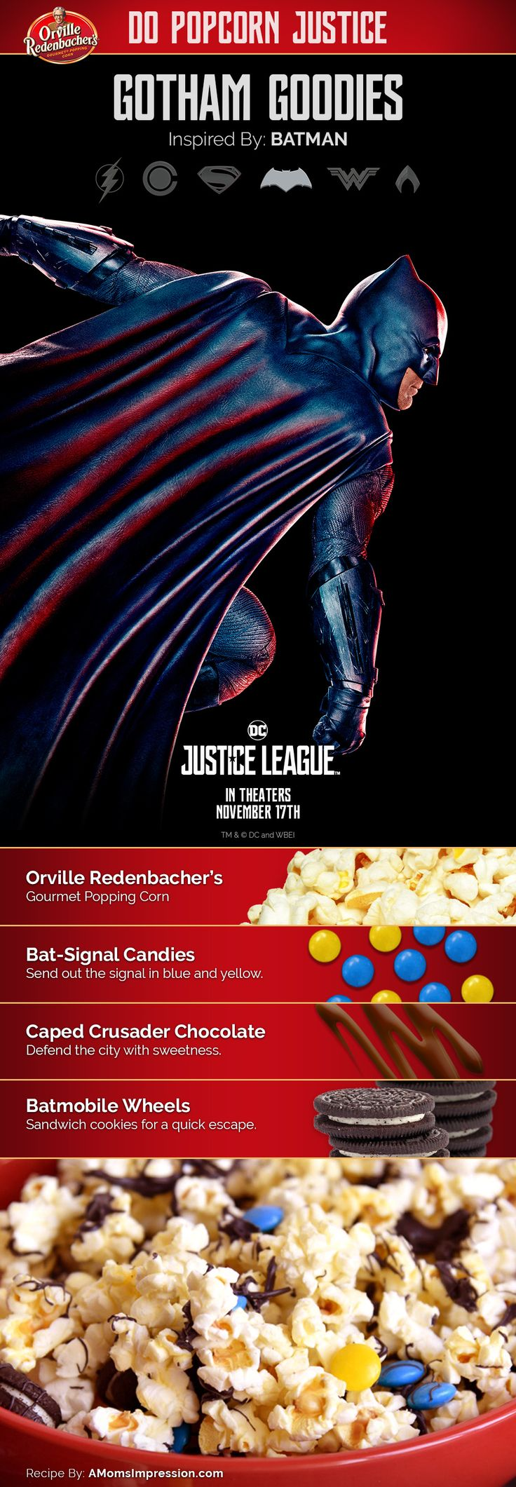Gotham Goodies Popcorn: Inspired by Batman #orvillepopcornjusticesweepstakes