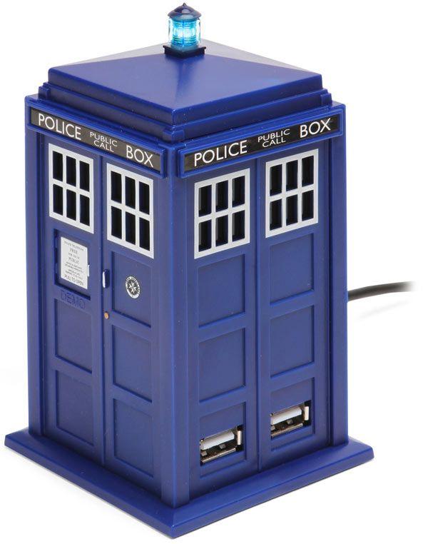 ThinkGeek :: Doctor Who TARDIS 4 Port USB Hub