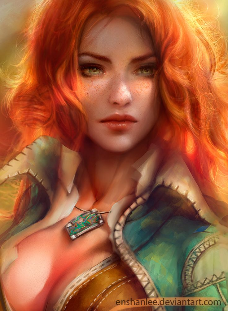 Triss Merigold by Enshanlee on @DeviantArt