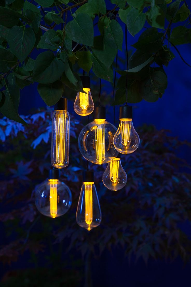 Delightful The Bulb 7 String Set | SOlar Garden Lighting | NOMA Garden Art