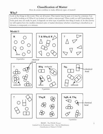 Worksheet Classification Of Matter Inspirational Practice ...
