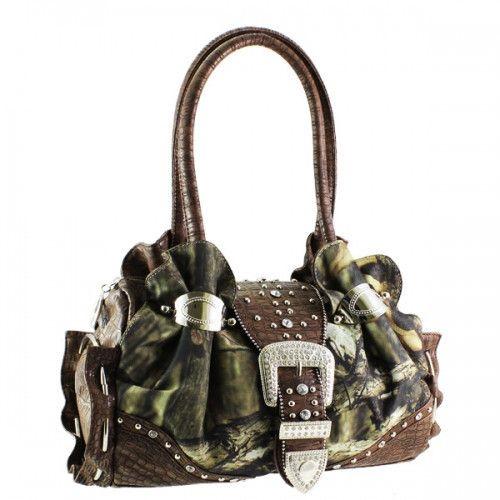 Mossy Oak® Camo Rhinestone Buckle Handbag – Handbag Addict.com