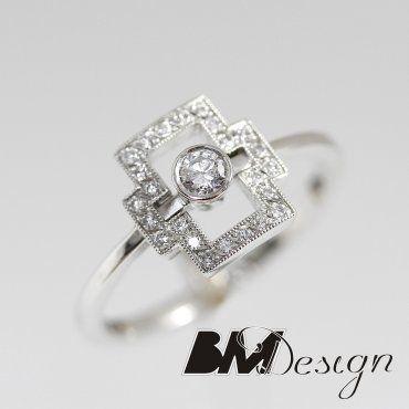 Diamenty Rzeszów Pierścionek z diamentem Rzeszów  BM Rzeszów