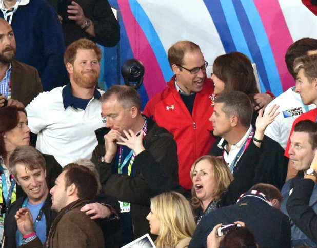 Prince William, Harry on different sides at England v Wales Rugby World Cup match