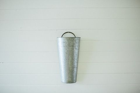 Galvanized Hanging Bucket For The Pallet Wall Over Desk