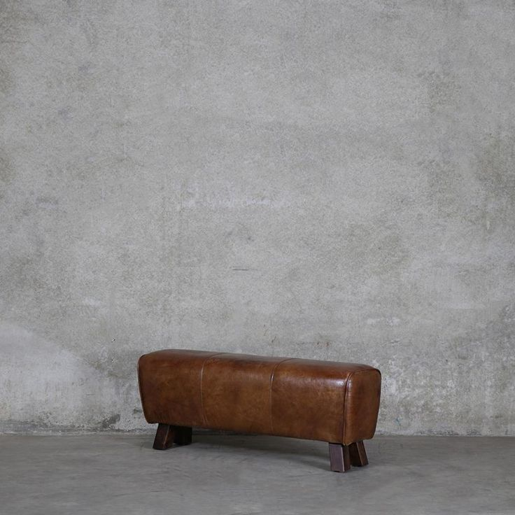 OTTOMANS Pommel Leather Bench - Cocoa Tan