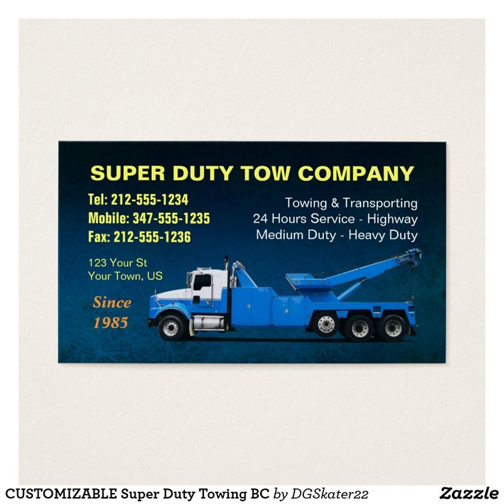 15 best Tow Truck Business Cards images on Pinterest | Tow truck ...