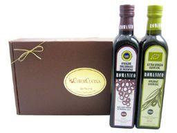 Two Bottle Organic Spanish Olive Oil And Balsamic Vinegar Gift Basket #Holidays