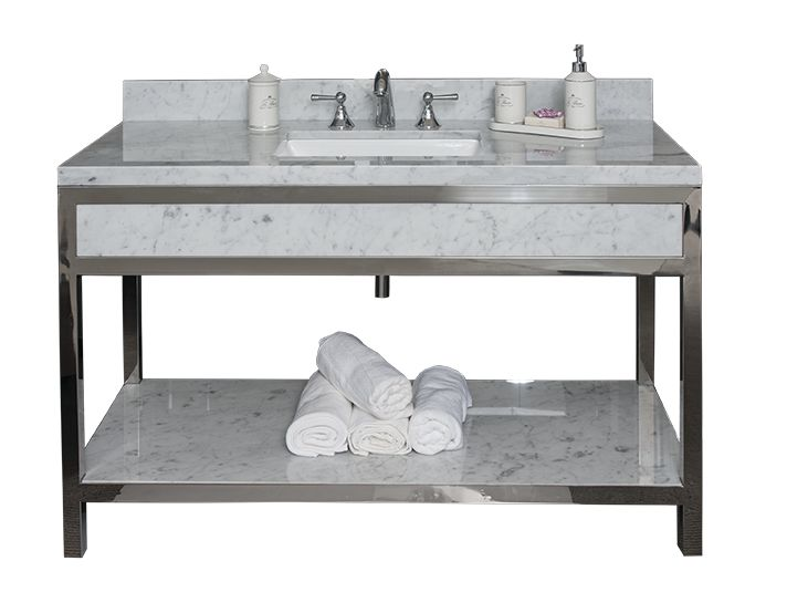 Creation Hospitality Metal Vanity Base Metal Vanity Base With Decorative  Front And Side Aprons.