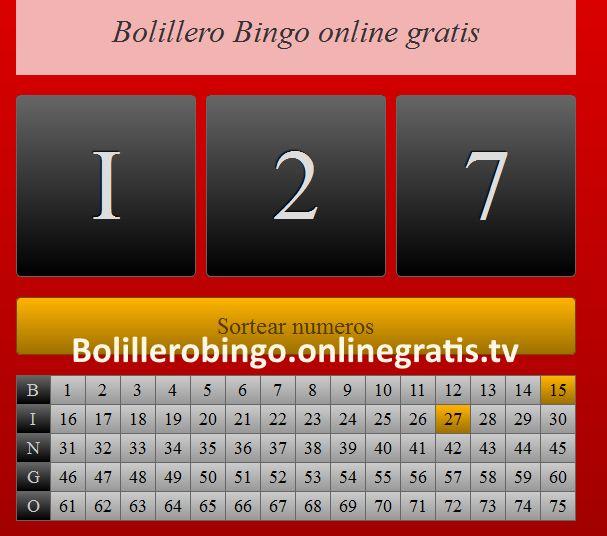 Bombo bingo Virtual gratis para Jugar sin descargar programas y sin estar registrado en la pagina web de forma online