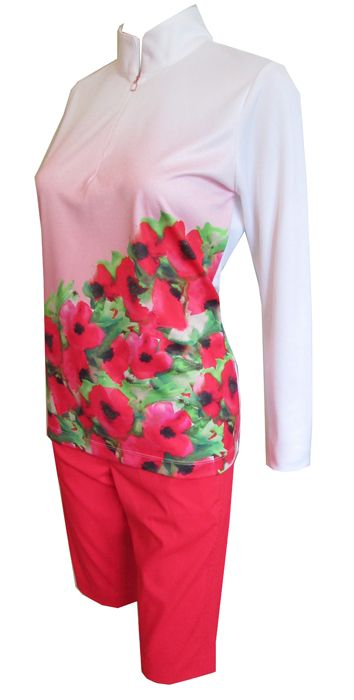 Love golf outfits? Here's our Poppy Fields EP New York Ladies & Plus Size Golf Outfit (Shirt & Shorts)! Check out more of these at #lorisgolfshoppe lorisgolfshoppe.com