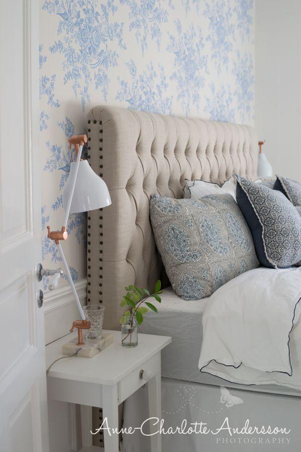 Sänggavel i tyg (♥ Fyra årstider - mitt liv på landet)