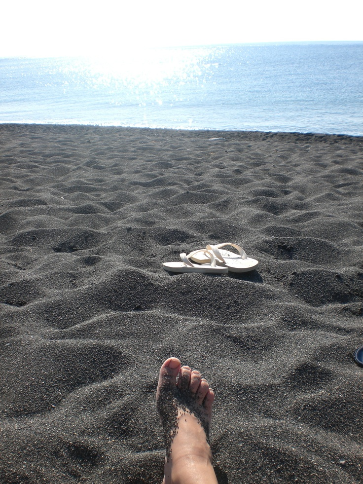 Chillin' on the black beach