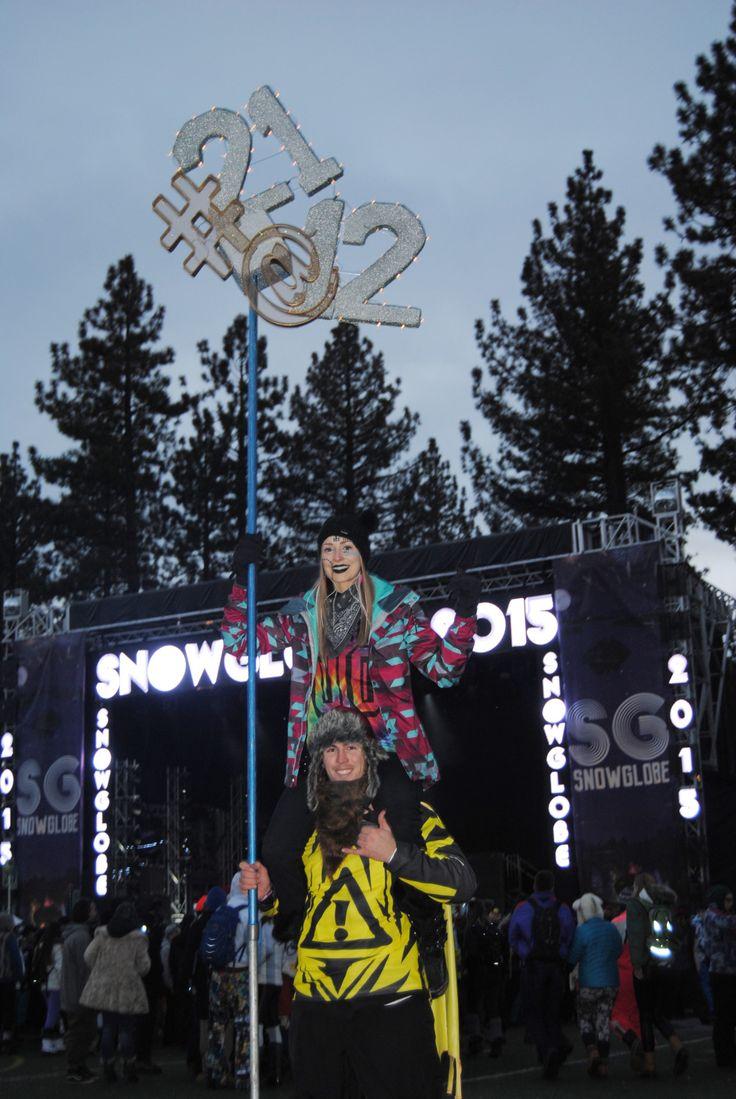 She turned 21 at 12! SnowGlobe 2015 #snowglobefestival #raveafashion #winterrave #snowrave #snowglobe