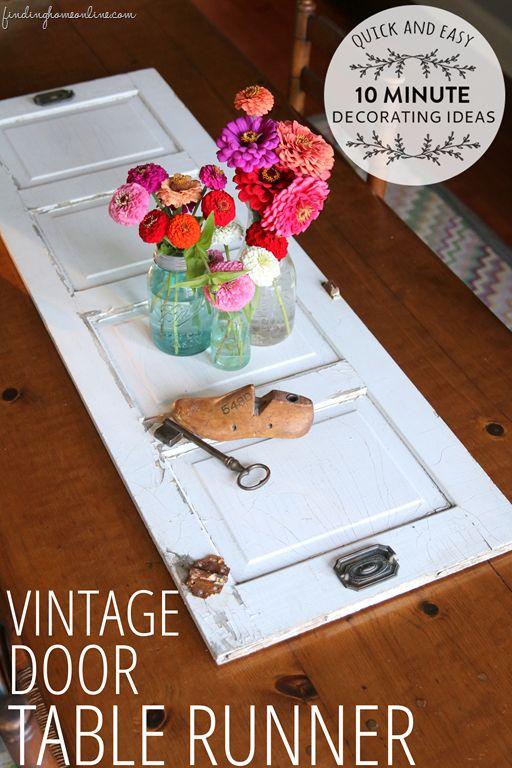 QuickEasyTenMinuteDecoratingVintageDoorTableRunnercopy thumb Quick & Easy 10 Minute Decorating   Vintage Door Table Runner