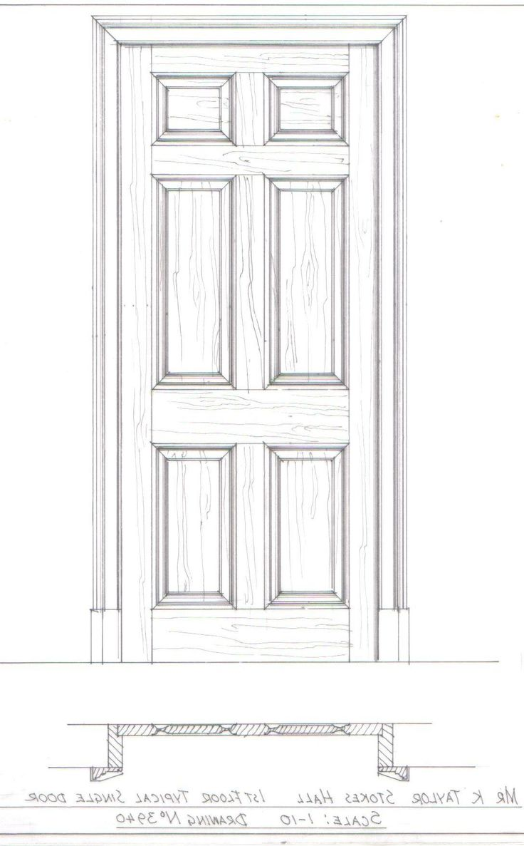 door design drawing  | 633 x 531