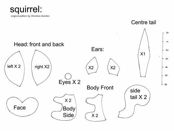 Free Felt Animal Patterns   Description : small pet squirrel Difficulty : Medium Tips : Use felt