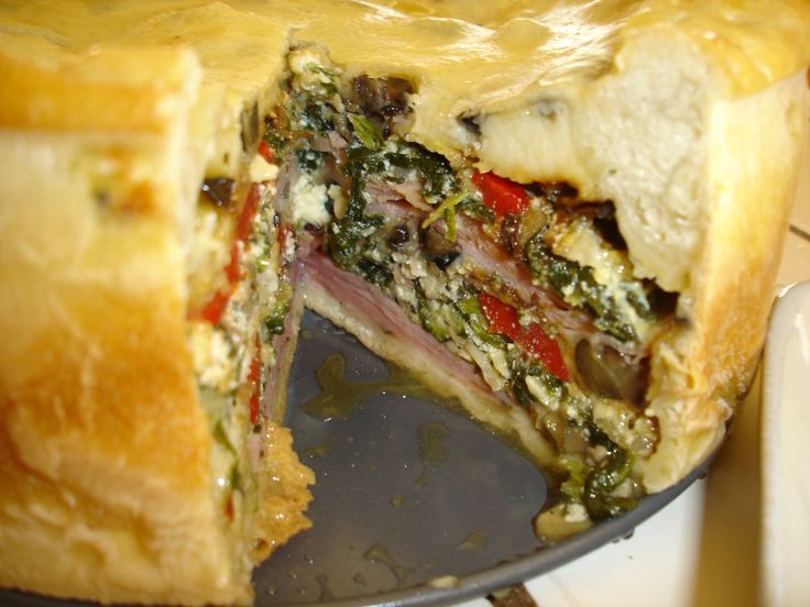 Observe. And observe yet again. With fanfare, I present to you the Torta Rustica.  Some years ago, my brother gave me Glorious Italian Cooking ( by Nick Stellino, and the Torta Rustica is in it.  T…