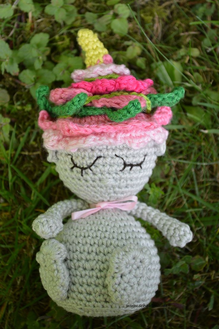 2345 best amigurumi free pattern images on pinterest crochet free crochet pattern flower clover look bankloansurffo Choice Image