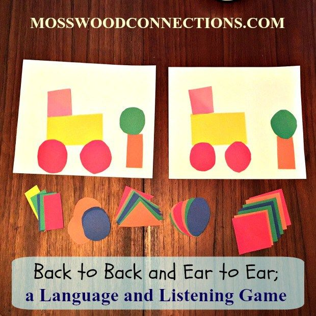 Back to Back and Ear to Ear; a Language and Listening Game