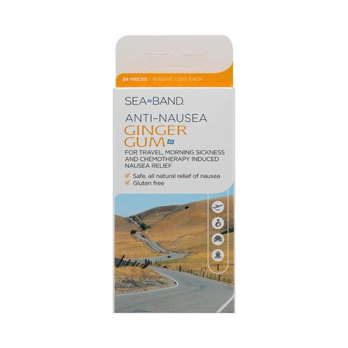 Sea-Band Anti-Nausea Ginger Gum - 24 Pieces - Sea-Band Anti-Nausea Ginger Gum Description:  For Travel Morning Sickness and Chemotherapy Induced Nausea Relief   Safe all natural relief of nausea  Gluten Free   As a medicinal herb ginger has been used for thousands of years. Now you can enjoy its natural soothing properties in a convenient great-tasting gum. Reach for some whenever you need relief from nauseawith no side effects. Each piece of gum provides 25 mg of ginger oil equivalent to…