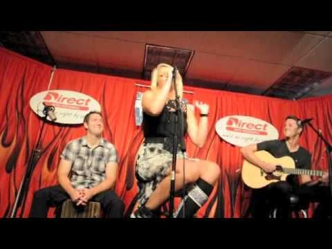 "Lauren Alaina sang I'm Not One of Them"" a short interview, Barefoot and Buckwild and Georgia Peaches at the Direct auto insurance garage at 98 WSIX  Nashville, July 17, 2013."