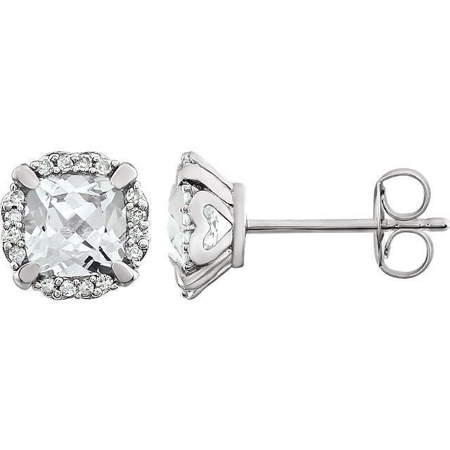 Men Women 14k Gold Tone 11.5mm FLOWER Screw Back Lab Diamond Stud Earring