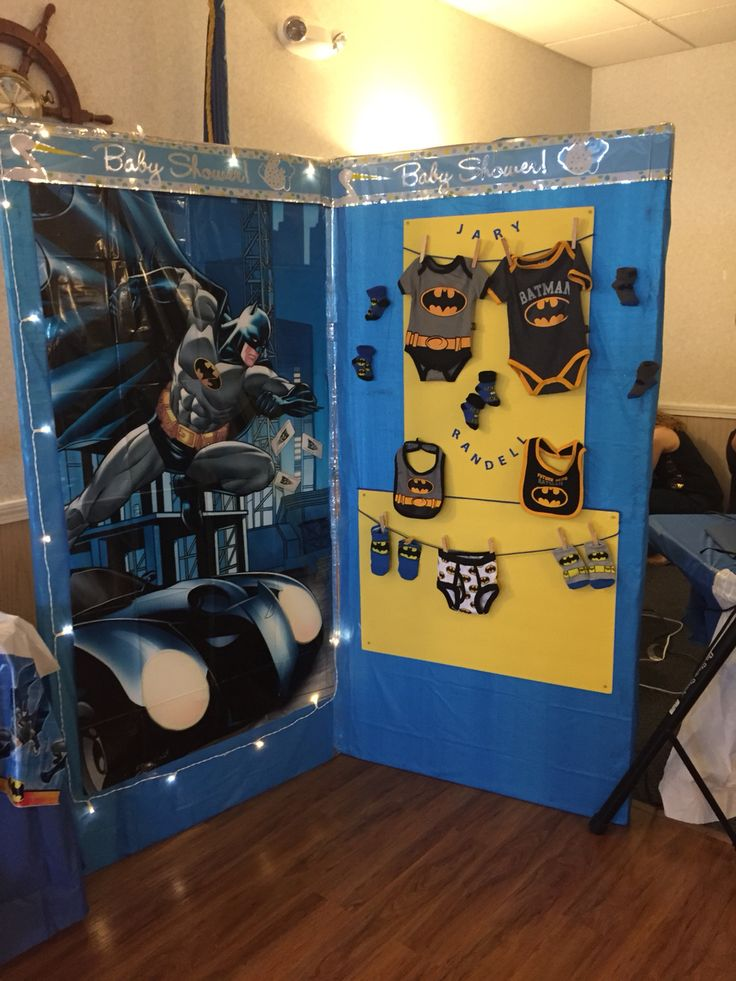 Batman Wall Made By My Mother For My Batman Theme Baby Shower