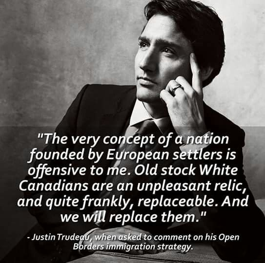 An asshole and moron who wasn't even a competent part-time acting teacher back in Vancouver -- I know because he was my daughter's teacher, when he actually showed up. He is turning into an Islamic apologist and traitor, and will be remembered as Canada's worst (and dumbest) PM.