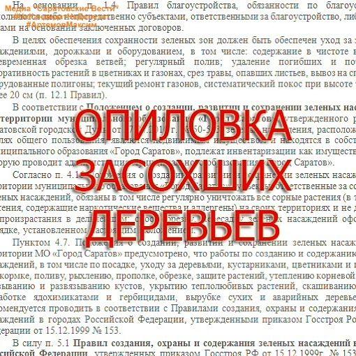@law_reaction 📌Инструкция на тему: Как спилить/опилить засохшее дерево? . 1️⃣ Фотодокументирование 2️⃣ Составляем письменное заявление. Текст в формате word можно запросить по почте: 📩 info@reaction64.ru. 3️⃣Направить заявление через форму на сайте Администрации г. Саратова 4️⃣Фотодокументирование результата (опционально) 5️⃣*отдавая дань моде* Ставим ❤️, подписываемся ♦️ #НеКандидатНеДепутат #АртемовМаксим #ВнеПолитики #Саратов #Энгельс #Россия #РоссийскаяФедерация #СМИ #газета #пресса…