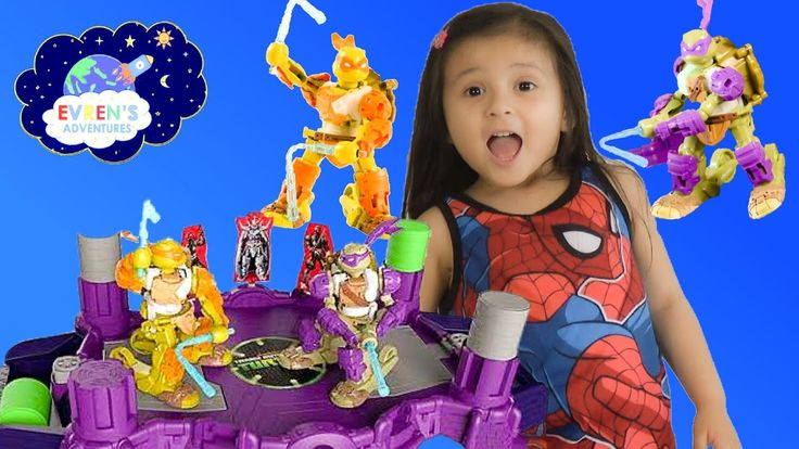 BATTROBORG Nickelodeon Teenage Mutant Ninja Turtles Electronic Battle Game Michelangelo vs Donatello Family Fun Game Challenge with Evren. Swing the katana controller to move Teenage Mutant Ninja Turtle robot into an attack. The secret dojo battle arena is perfect for Michelangelo and Donatello to practice in Training mode. Train, battle and score with the Battroborg Teenage Mutant Ninja Turtles Toy.