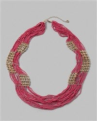 chicos: Necklaces Style, Pink Stuff, Multi Strands Necklaces, Multistrand Necklaces, Summer Style, Pink Necklaces, Vontella Multistrand, Cool Necklaces, Arrosa Pink
