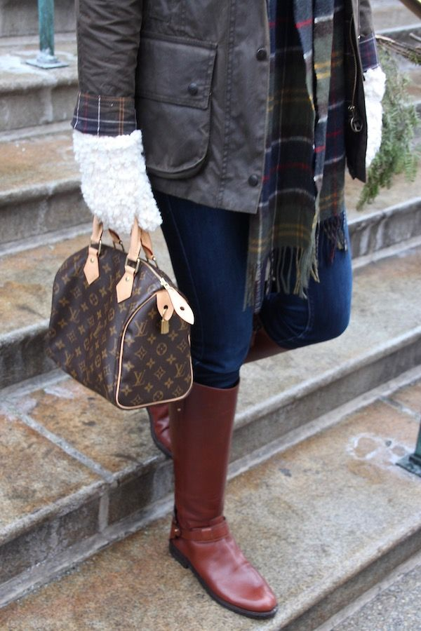 Gimme Glamour: Louis Vuitton Speedy 25, Tory Burch Riding Boots