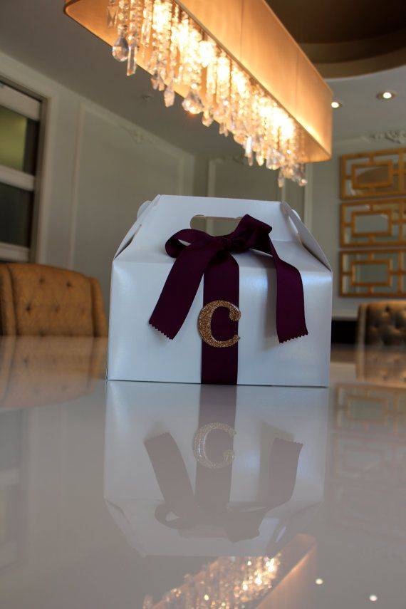 Initial with Ribbon Gift/Gable Box by certainlychic on Etsy, $4.00