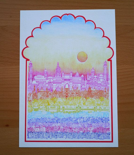 Rangeela India A4 Print by cheism on Etsy, $18.00