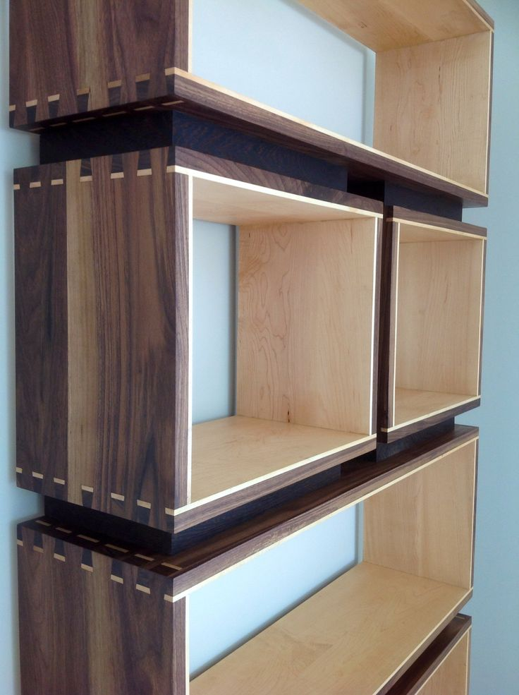 Bookcase, solid walnut and maple (Made by Jason)