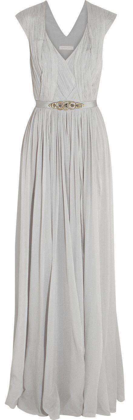 Pretty Matthew Williamson gown for the bridesmaids