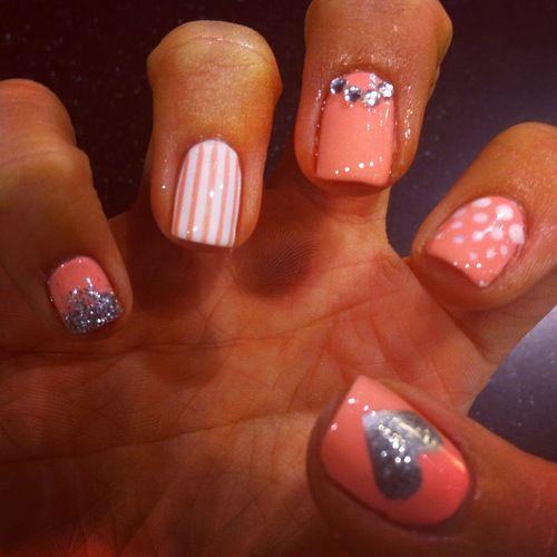 Coral mix nd match nail polish