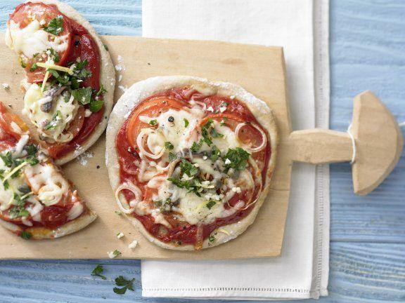 Rezept: Tomaten-Sardellen-Pizza