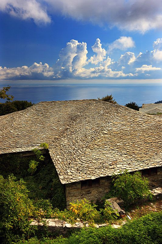 This is my Greece | A typical sample of Pelian architecture, based on the use of stone, not only on the walls but also on the roofs, in the regional unit of Magnesia