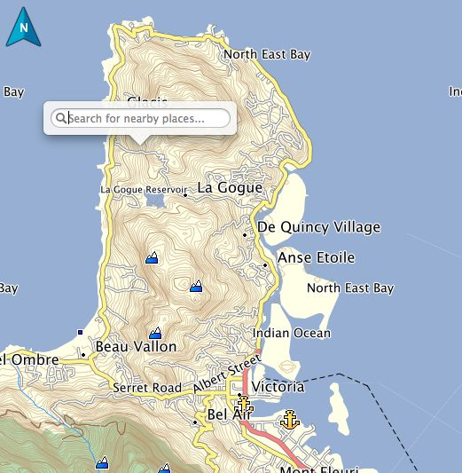 Best Seychelles Garmin GPS Map Images On Pinterest Seychelles - Seychelles victoria map indian ocean