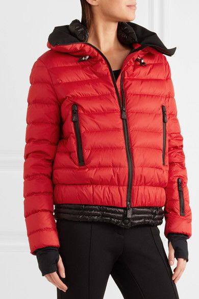 Moncler Grenoble - Vonne Hooded Quilted Down Jacket - Red - 4 | Products | Pinterest | Products