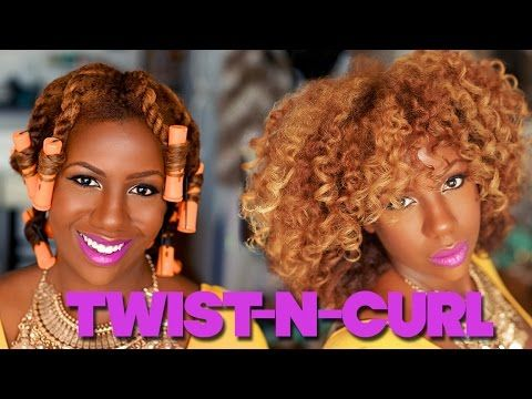 A Banging Twist And Curl On Color Treated Hair - http://community.blackhairinformation.com/video-gallery/natural-hair-videos/a-banging-twist-and-curl-on-color-treated-hair/