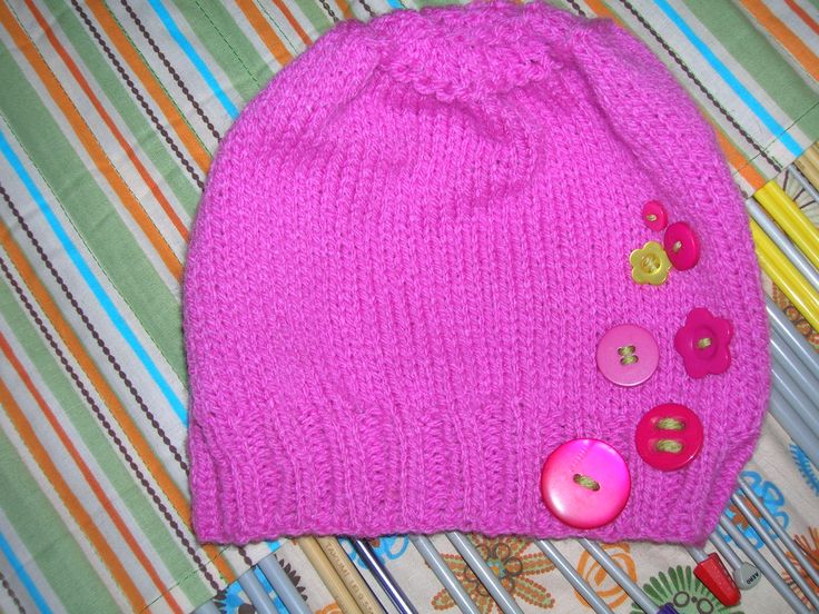 Tuque rose boutons!!!