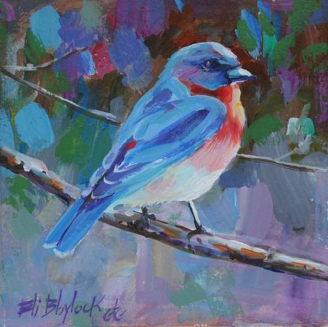 Acrylic+Beginner+For+Canvas+Painting | ACRYLIC PAINTING OF BLUEBIRD, original painting by artist Elizabeth ...